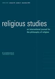 Religious Studies Volume 46 - Issue 4 -