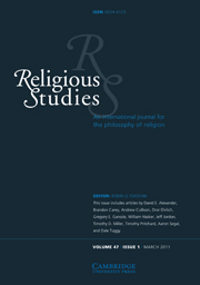Religious Studies Volume 47 - Issue 1 -