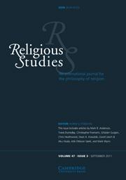 Religious Studies Volume 47 - Issue 3 -