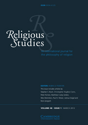 Religious Studies Volume 48 - Issue 1 -
