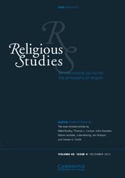 Religious Studies Volume 48 - Issue 4 -