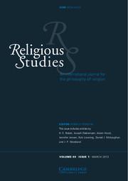 Religious Studies Volume 49 - Issue 1 -