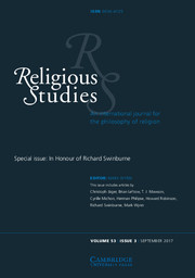 Religious Studies Volume 53 - Special Issue3 -  In Honour of Richard Swinburne