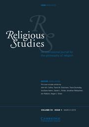 Religious Studies Volume 55 - Issue 1 -