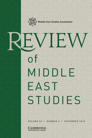 Review of Middle East Studies Volume 52 - Issue 2 -