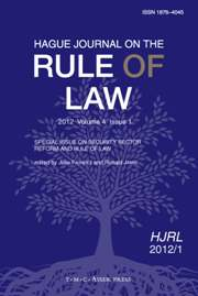 Hague Journal on the Rule of Law Volume 4 - Issue 1 -  Special Issue on Security Sector Reform and Rule of Law