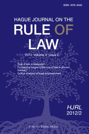 Hague Journal on the Rule of Law Volume 4 - Issue 2 -