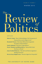 The Review of Politics Volume 72 - Issue 1 -
