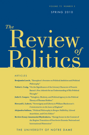 The Review of Politics Volume 72 - Issue 2 -