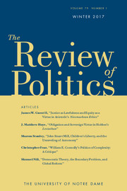 The Review of Politics Volume 79 - Issue 1 -