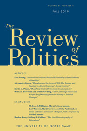 The Review of Politics Volume 81 - Issue 4 -