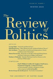 The Review of Politics Volume 82 - Issue 1 -