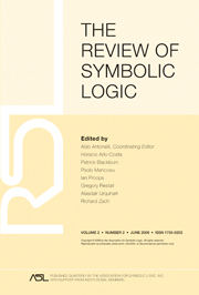 The Review of Symbolic Logic Volume 2 - Issue 2 -