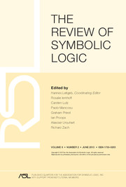 The Review of Symbolic Logic Volume 6 - Issue 2 -