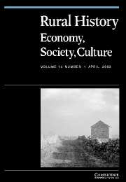 Rural History Volume 14 - Issue 1 -