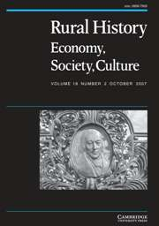 Rural History Volume 18 - Issue 2 -