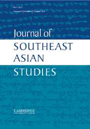 Journal of Southeast Asian Studies Volume 35 - Issue 3 -