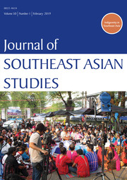 Journal of Southeast Asian Studies Volume 50 - Issue 1 -