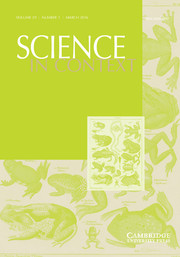 Science in Context Volume 29 - Issue 1 -  Animal-Man Relations