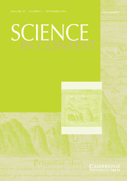 Science in Context Volume 29 - Issue 3 -