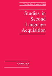 Studies in Second Language Acquisition Volume 30 - Issue 1 -