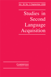 Studies in Second Language Acquisition Volume 30 - Issue 3 -