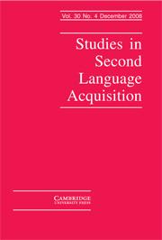 Studies in Second Language Acquisition Volume 30 - Issue 4 -