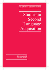Studies in Second Language Acquisition Volume 34 - Issue 3 -