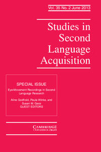 Studies in Second Language Acquisition Volume 35 - Issue 2 -  Eye-Movement Recordings in Second Language Research