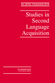 Studies in Second Language Acquisition Volume 38 - Issue 4 -