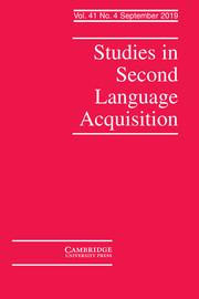 Studies in Second Language Acquisition Volume 41 - Issue 4 -