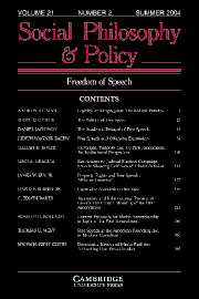 Social Philosophy and Policy Volume 21 - Issue 1 -