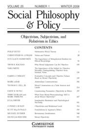 Social Philosophy and Policy Volume 25 - Issue 1 -