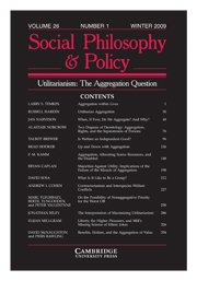 Social Philosophy and Policy Volume 26 - Issue 1 -