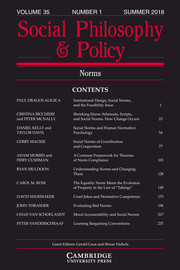 Social Philosophy and Policy Volume 35 - Issue 1 -