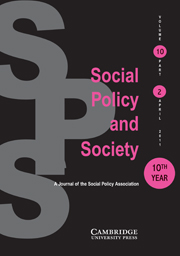 Social Policy and Society Volume 10 - Issue 2 -