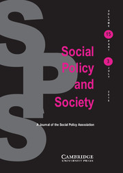 Social Policy and Society Volume 15 - Issue 3 -