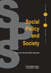 Social Policy and Society Volume 17 - Issue 1 -