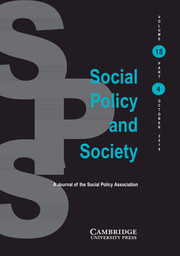 Social Policy and Society Volume 18 - Issue 4 -