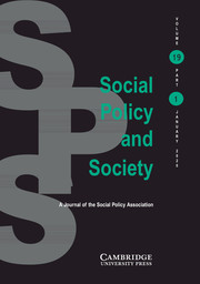 Social Policy and Society Volume 19 - Issue 1 -
