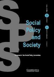 Social Policy and Society Volume 2 - Issue 4 -
