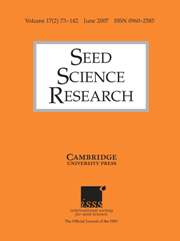 Seed Science Research Volume 17 - Issue 2 -