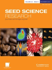 Seed Science Research Volume 23 - Issue 4 -