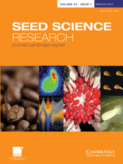 Seed Science Research Volume 24 - Issue 1 -