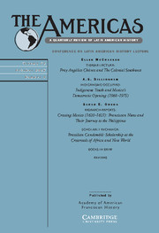 The Americas Volume 72 - Issue 4 -