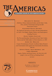 The Americas Volume 76 - Issue 1 -