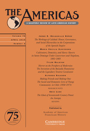The Americas Volume 76 - Issue 2 -