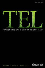 Transnational Environmental Law Volume 2 - Issue 1 -