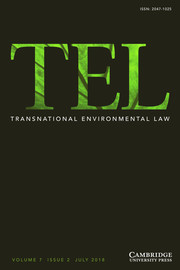 Transnational Environmental Law Volume 7 - Issue 2 -