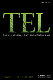 Transnational Environmental Law Volume 8 - Issue 1 -
